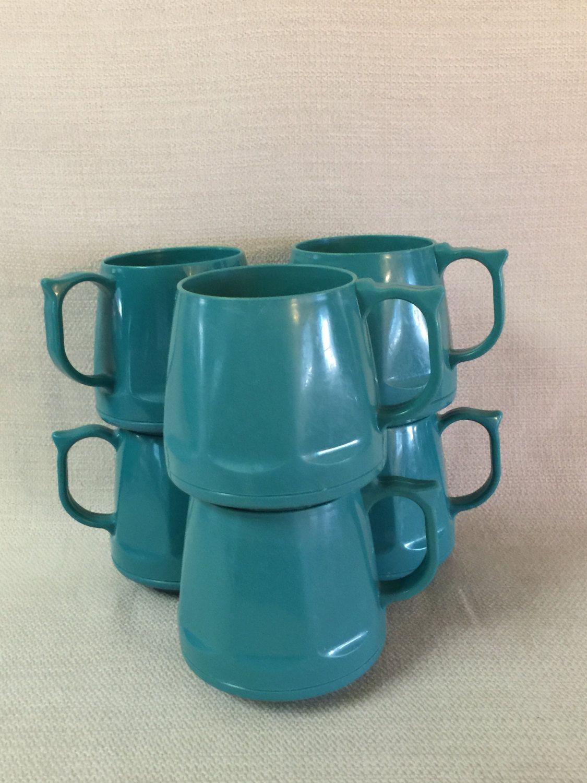 Vintage Aqua Heritage Collection Dinex Insulated Plastic