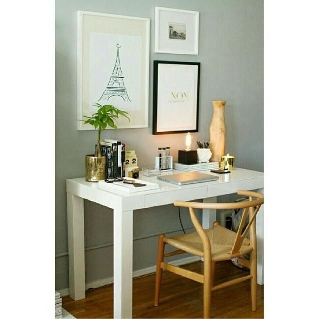Nicely styled desk/office