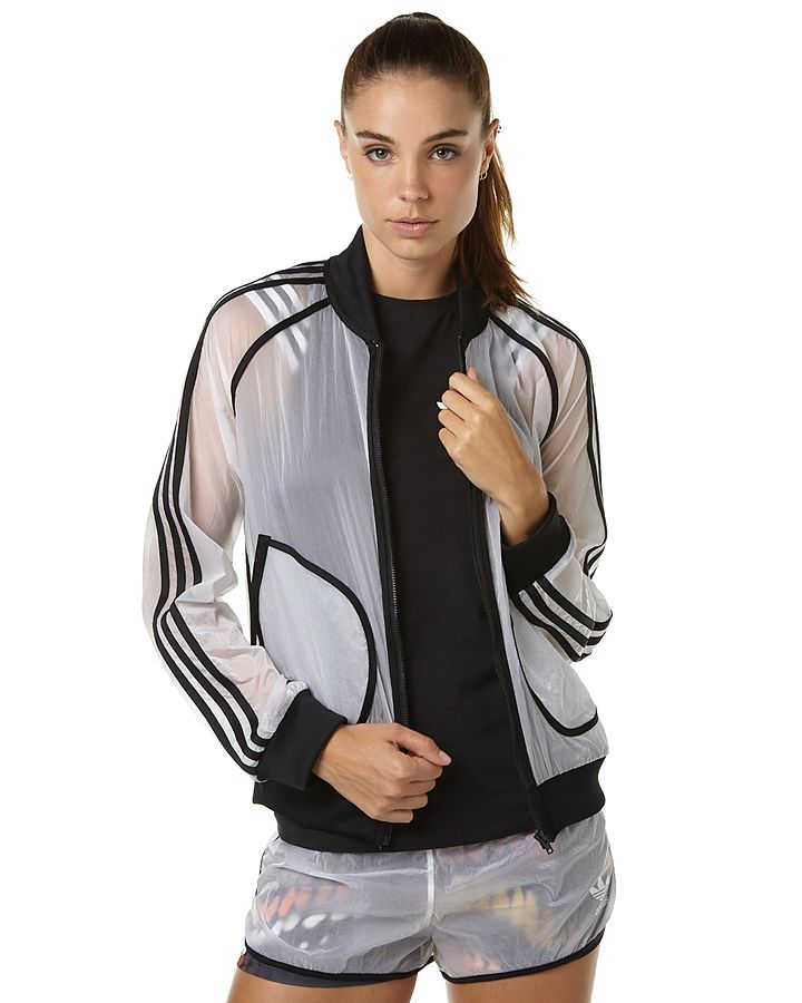 8bd84bca6bb2 ADIDAS ORIGINALS X RITA ORA TRANSPARENT WOMENS WINDBREAKER - WHITE ...