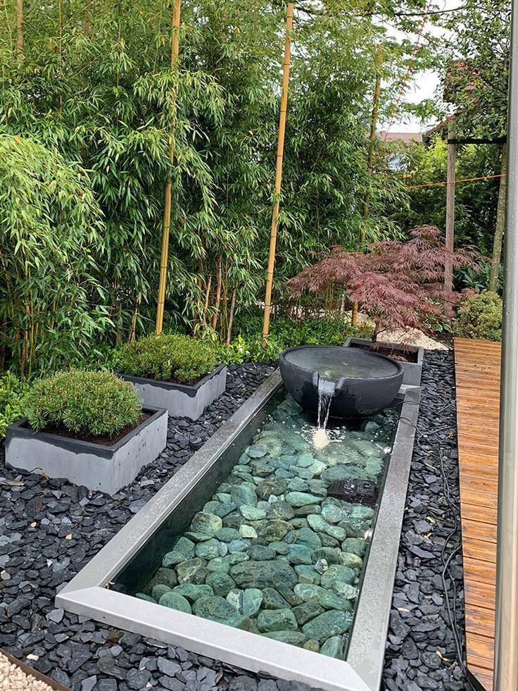 Garten Brunnen Referenzen Referenzen Slink Ideen Mit Wasser The Post Referenzen Appeared Water Features In The Garden Zen Garden Design Modern Garden Design