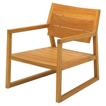 Gloster Outdoor Furniture Axis Teak Arm Chair Gloster Outdoor
