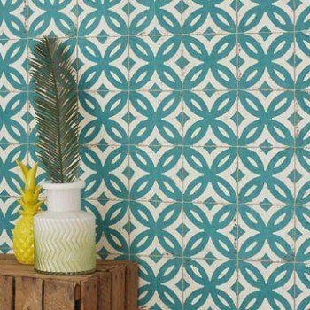 Papier Peint Intissé Mosaïque Vert Chambre L V Papier