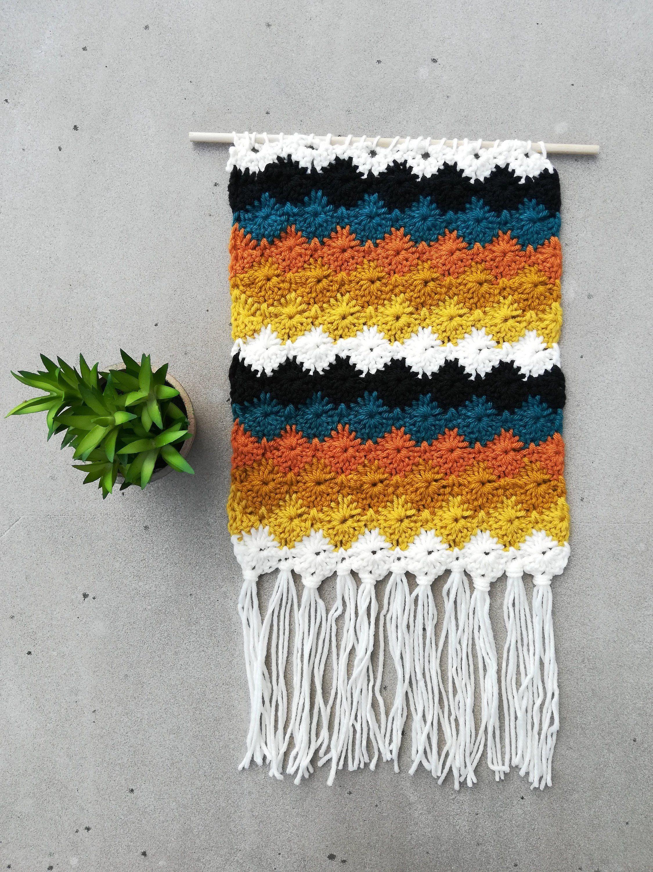 Crocheted Boho Wall Hanging ~ Modern Style Home Decor ... on Modern Boho Wall Decor  id=27976