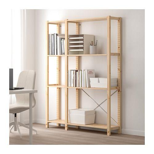 huge discount 0a9ac db70d IVAR 2 section shelving unit, pine | Living room/ kitchen ...