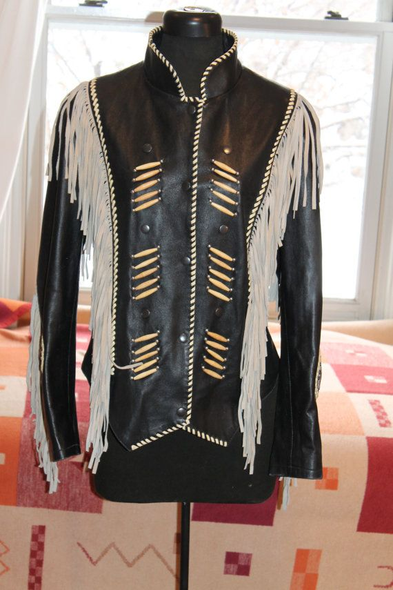 Vtg. BEAUTIFUL Womens Pakistan Leather Western fringed by Taite