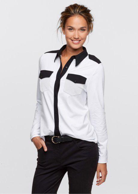 Camisa bicolor manga longa