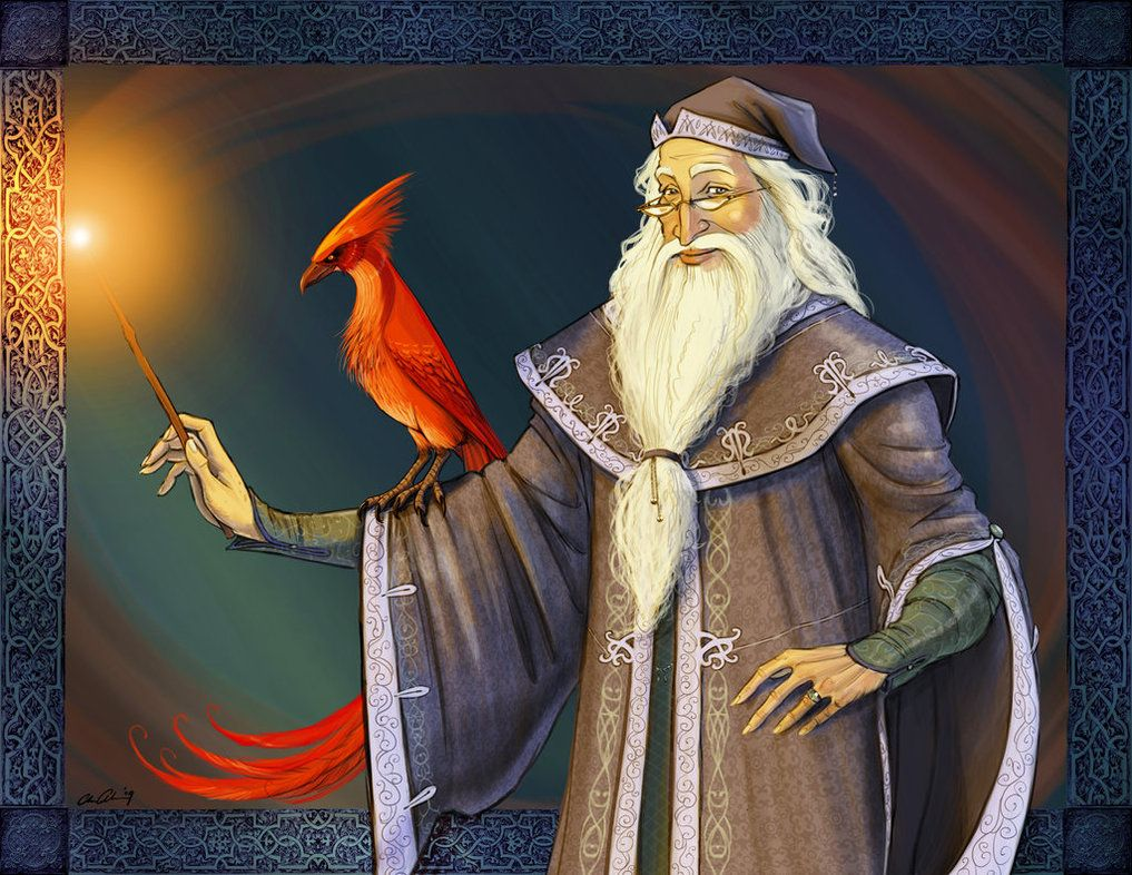 Albus Dumbledore and Fawkes | Harry Potter | Pinterest