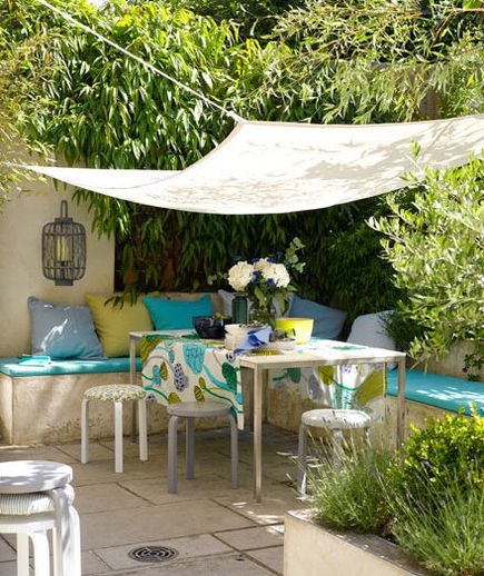 22 Outdoor Decor Ideas & 22 Outdoor Decor Ideas | White fabrics Outdoor spaces and Canopy
