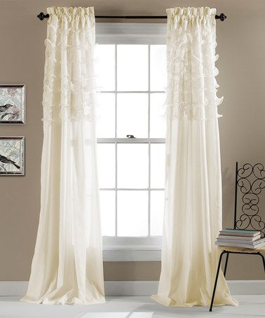 Love This Ivory Avery Ruffle Curtain Panel Set Of Two On