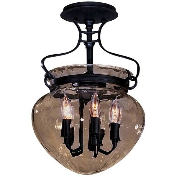 Hubbardton Forge Bathroom Lighting Part - 48: Acharn Semi-Flushmount With Water Glass By Hubbardton Forge - Bathroom  Lighting And Vanity Lighting -