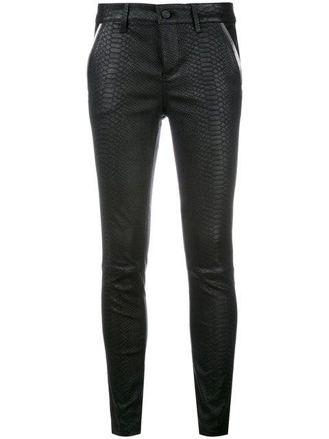 Rta pantalones con efecto de piel de serpiente - Negro farfetch el-negro bJq9j