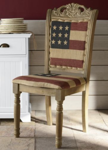 American Flag Chair From Through The Country Door Red White
