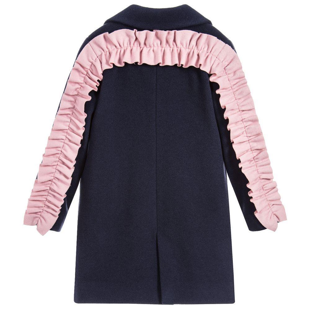 82f041a8c MSGM - Girls Blue Wool Coat