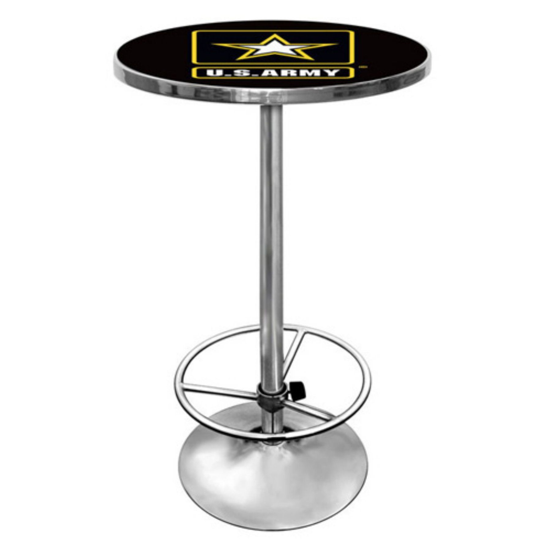 US Army Chrome Pub Table - ARMY2000   Chrome and Products
