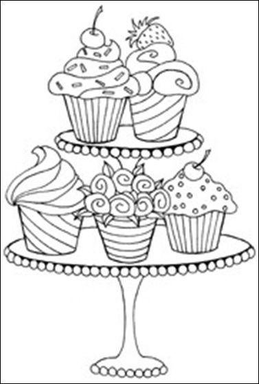 dibujos de pasteles para colorear - Pesquisa Google