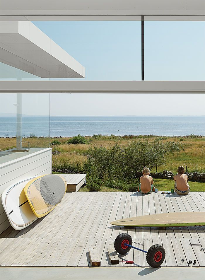 Modern swedish family dream getaway open deck