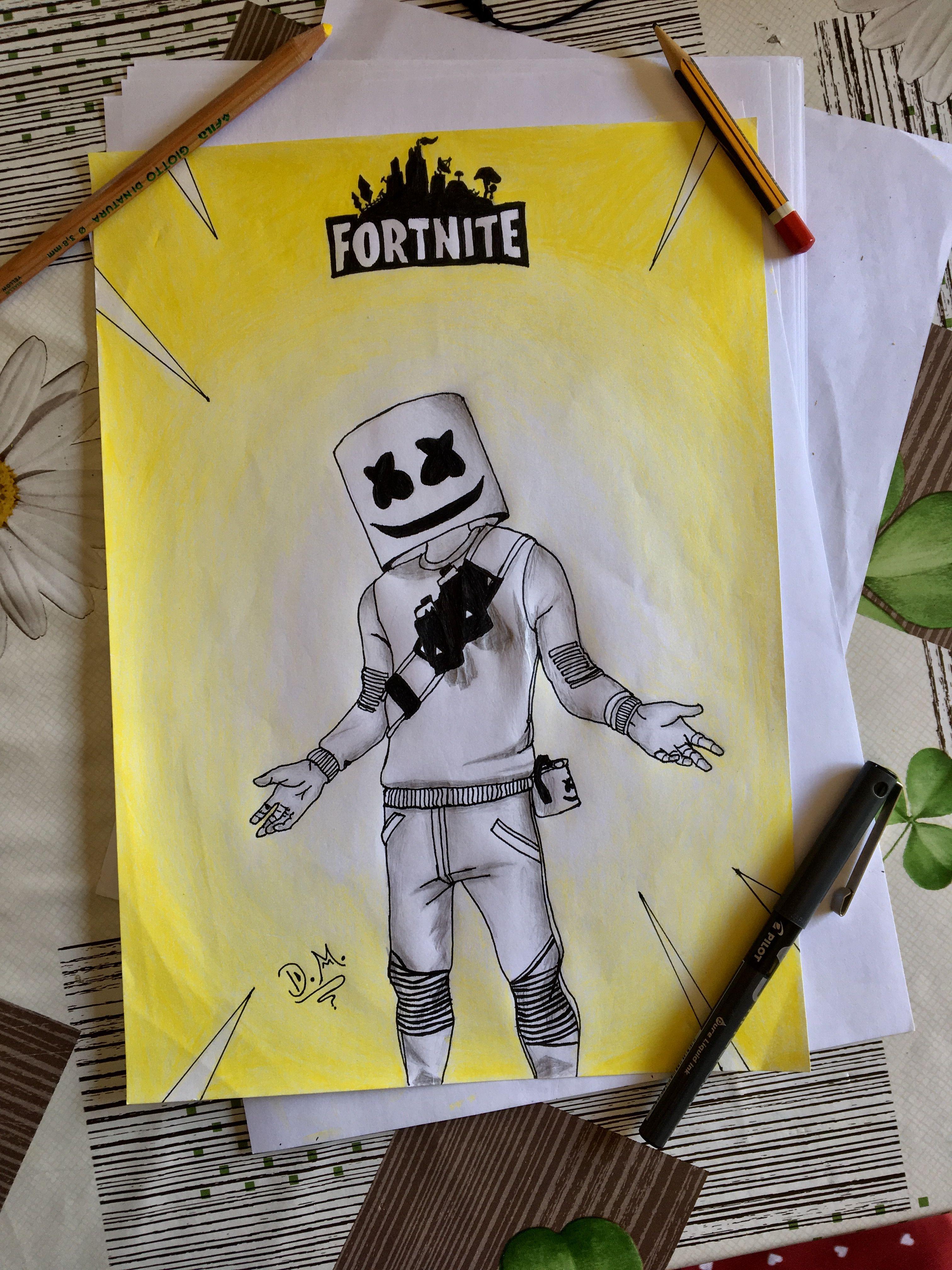Fortnite Marshmello My New Drawing Go To My Instagram
