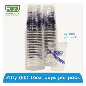 Bluestripe 25% Recycled Content Cold Cups Convenience Pack - 16oz., 50/pk