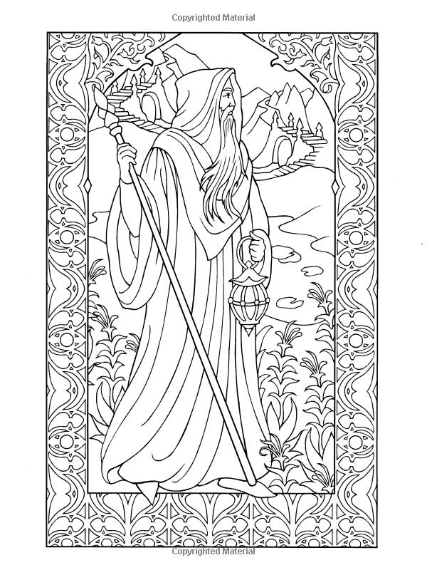 Amazon.fr - Wondrous Wizards - Marty Noble - Livres | coloriage ...