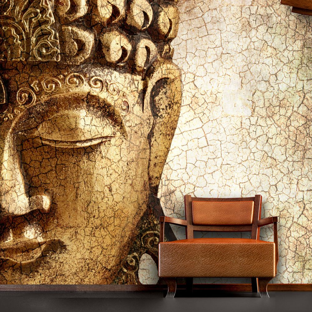 Wall mural vintage buddha large photo interior art - Photo decoration on wall ...