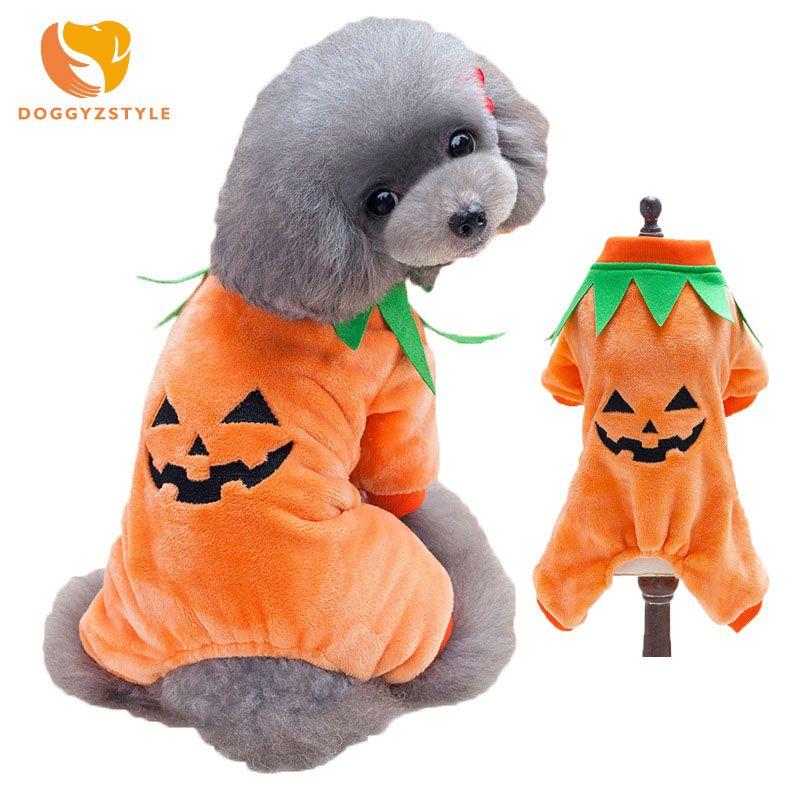 Dog Halloween Costume Pet Puppy Clothes Jumpsuit For Autumn Winter Pet Coat Fleece Soft Chihuahua Pumpkin  sc 1 st  Pinterest & Dog Halloween Costume Pet Puppy Clothes Jumpsuit For Autumn Winter ...