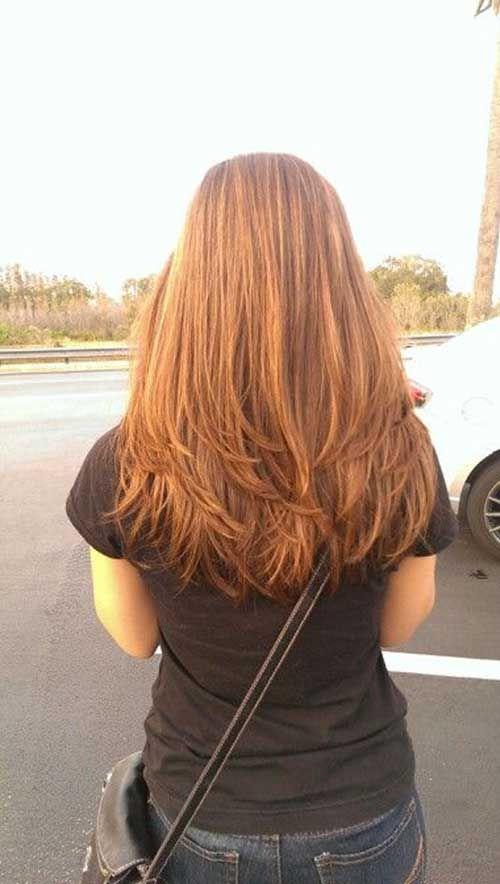 20 geschichtete Haarschnitte Rückansicht - Neue trend frisuren #longlayeredhaircuts