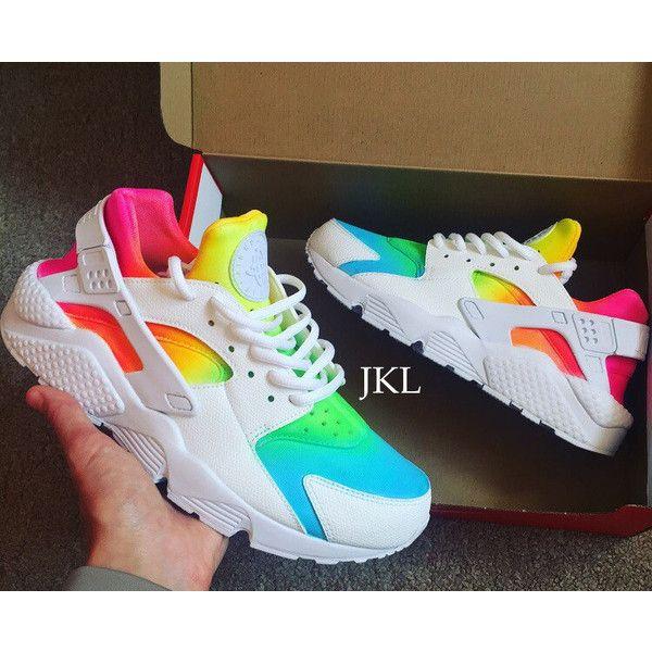 b558537ee491 Ombre-Neon White Nike Air Huarache Nike Huarache Tie Dye Summer... (