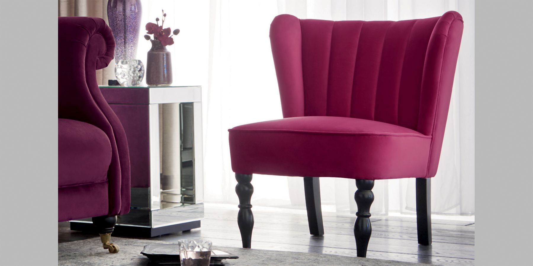 Buy Tula Chair 1 Seat Matt Velvet Ginger Dark From The Next Uk
