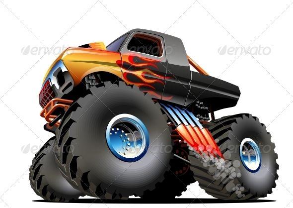 Cartoon Monster Truck Monster Trucks Monster Truck Art Monster