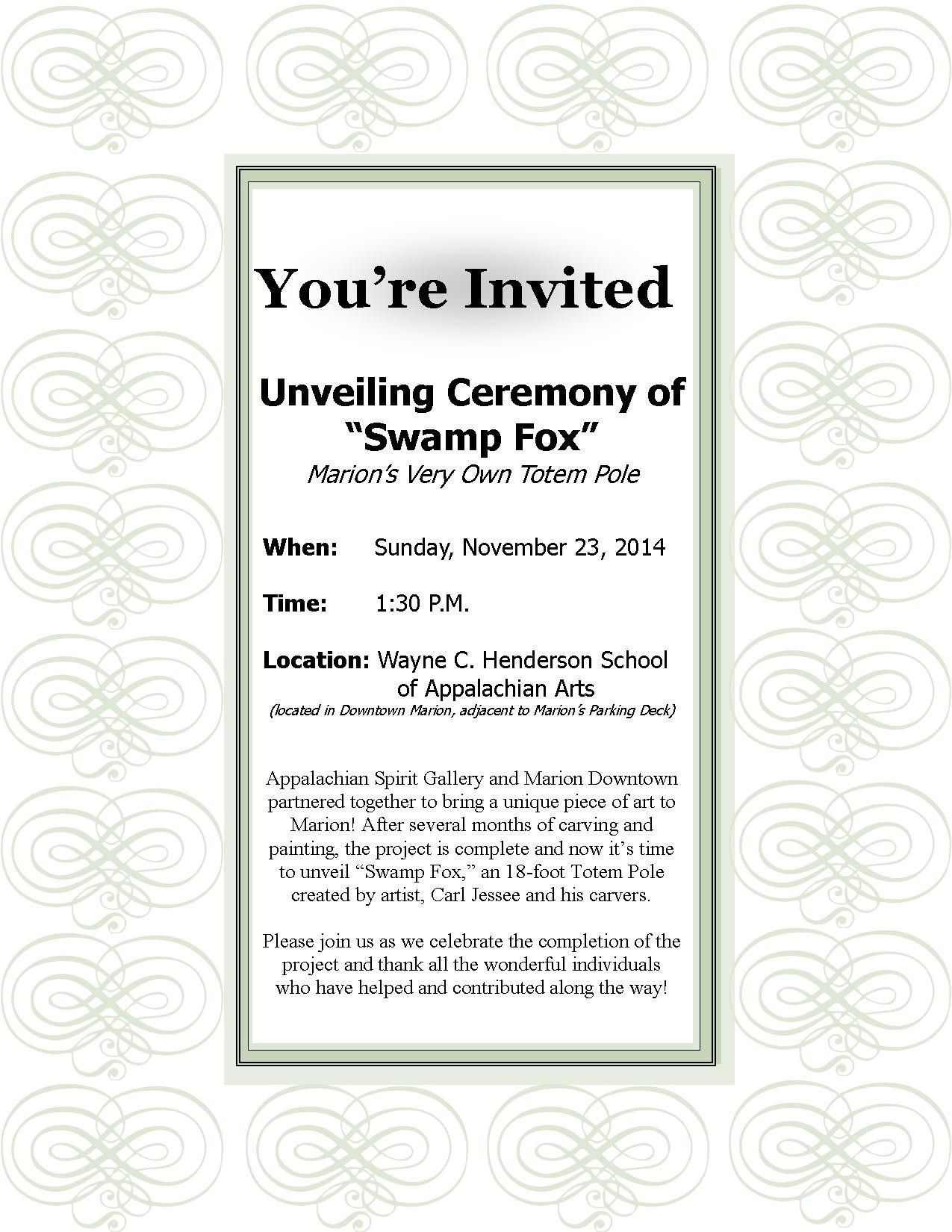 Formal Invitation Design Template  Formal invitation design