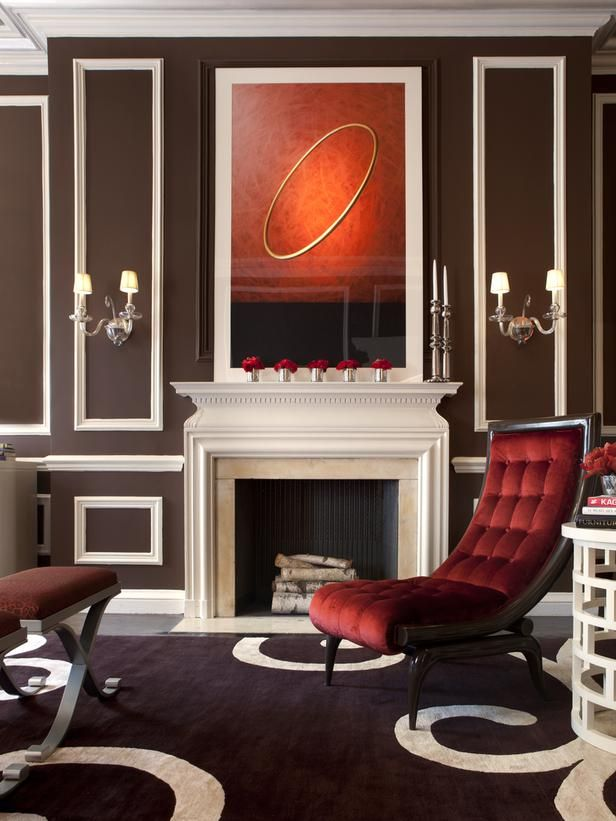 Love this white-and-chocolate palette with lush velvet slipper chair. --> http://www.hgtv.com/designers-portfolio/room/romantic/dining-rooms/7845/index.html#/id-7331/room-living-rooms/style-romantic?soc=pinterest