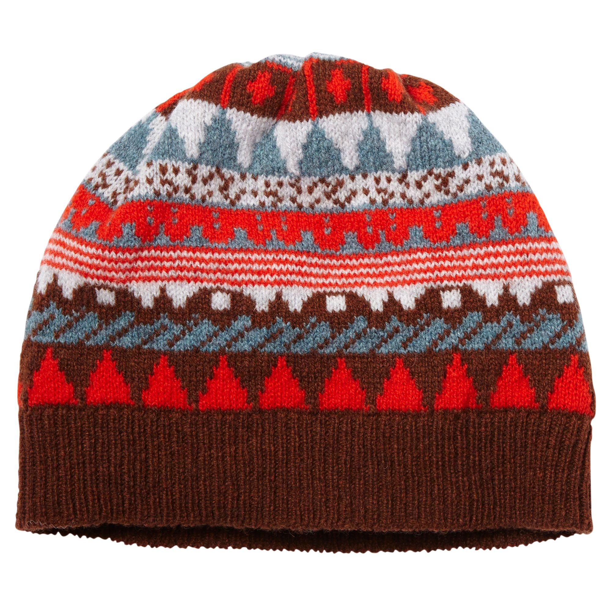 7e7a89ea06 This patterned hat will keep your head cosy this winter. Matches our Tiny  Circus thin scarf. 100% Lambswool