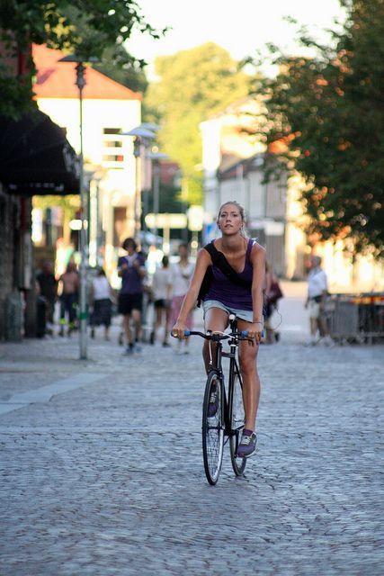 Un día de verano en Lund, Suecia.