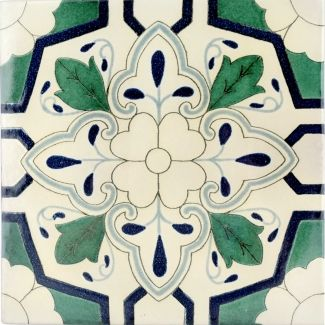 12x12 Sondrio Terra Nova Hand Painted Floor Tile Tile Floor Wall And Floor Tiles Ceramic Floor Tile