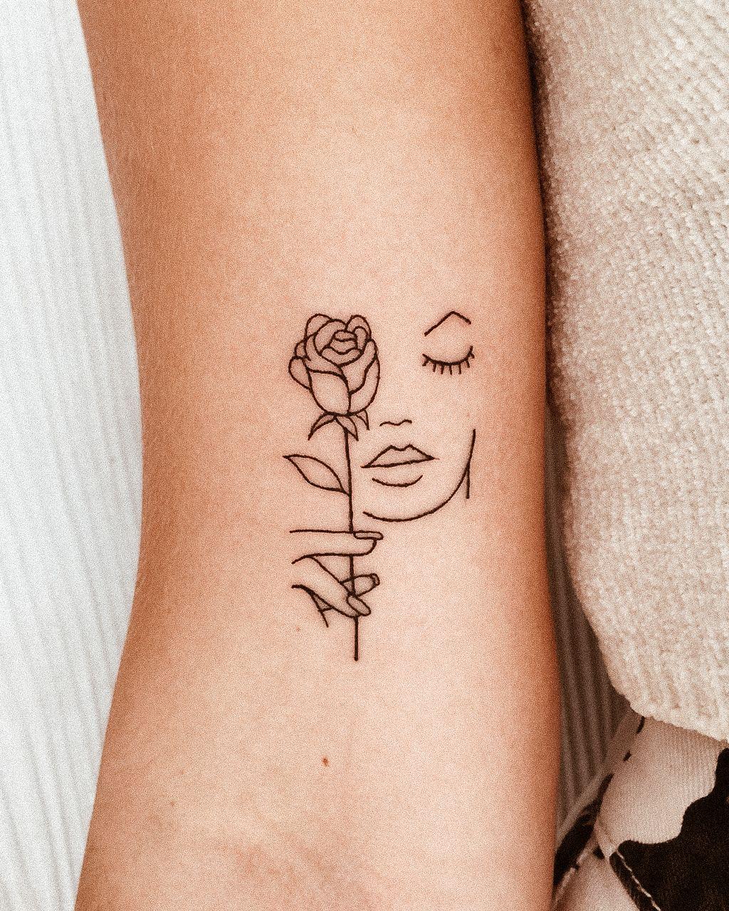 Fine Line Face Small Face Tattoos Dainty Tattoos Line Tattoos