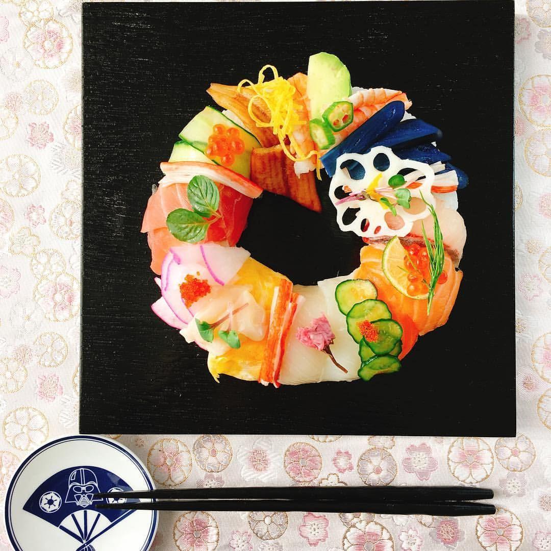 . . 寿司(Sushi)/寿司ケーキ(Sushi cake) . #japanese #japanesefood #japanese #sushi #sushitime  #food #instagood #fish #vegetables #cooking #homemade #obento #寿司 #mosaic #tukiji  #fishmarket #日本 #washoku #新鮮 #sashimi #mosaicsushi  #ちらし寿司 #sushicake #washoku #家庭料理#wreath #モザイク寿司 #starwars #和食 #东京 #pokee