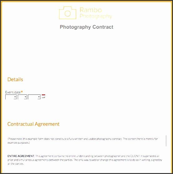 Photography order form Template Excel Lovely 8 Graphy ...