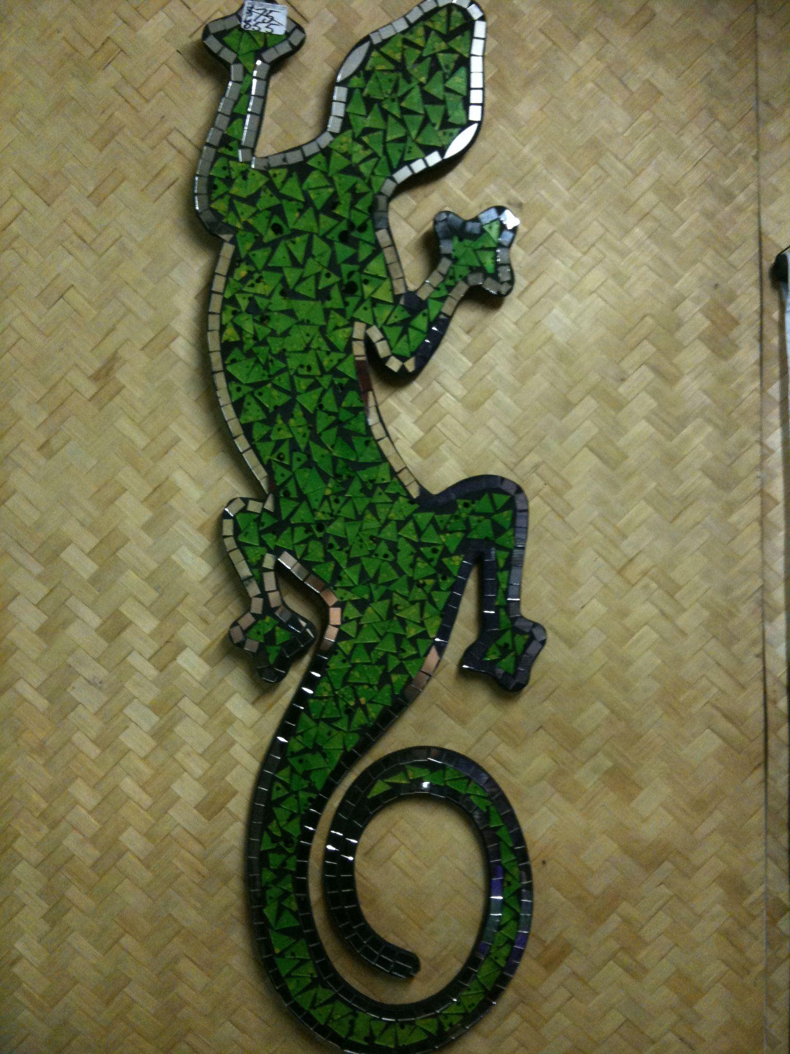 Mosaic green gecko large salamaders pinterest mosaic mosaic