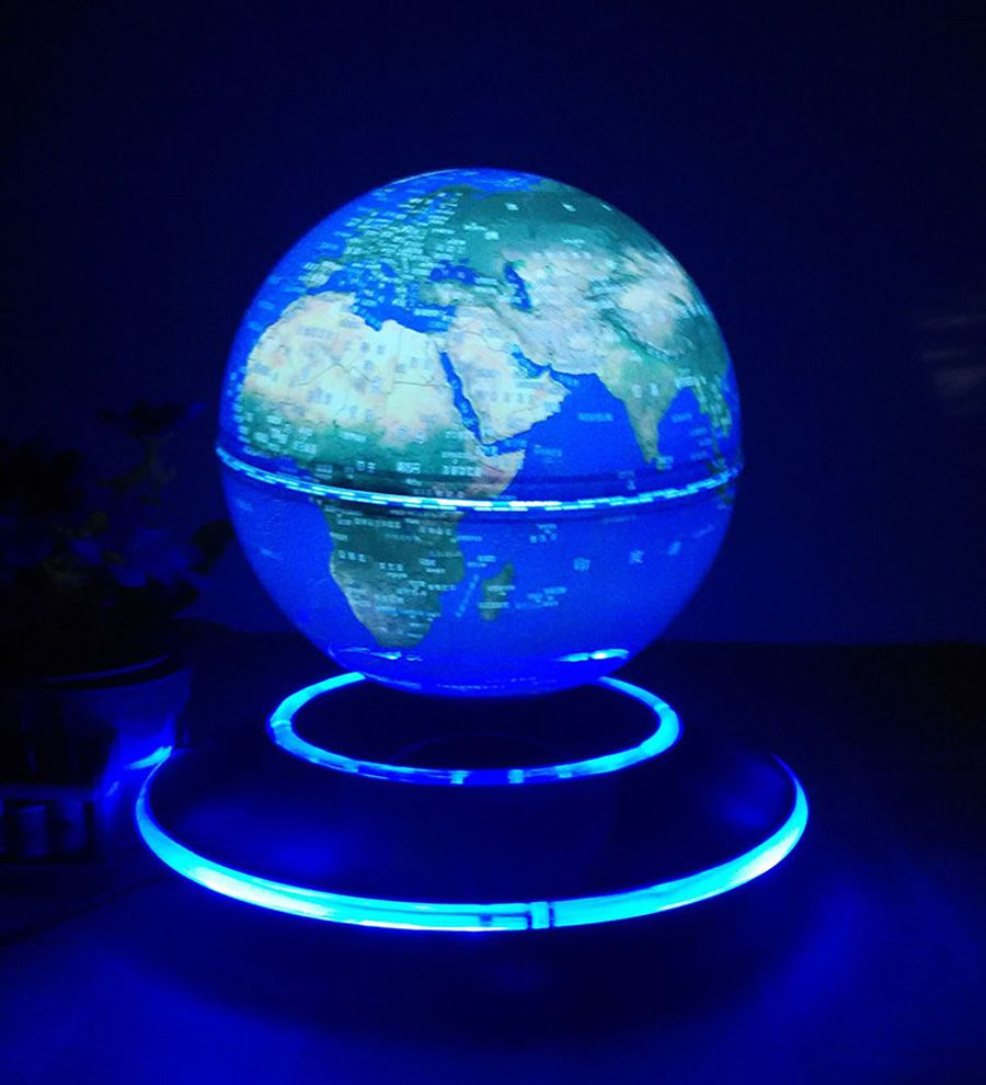 6 inch electronic magnetic levitation floating luminous globe 6 inch electronic magnetic levitation floating luminous globe world map for business boss friend christmas birthday gumiabroncs Gallery