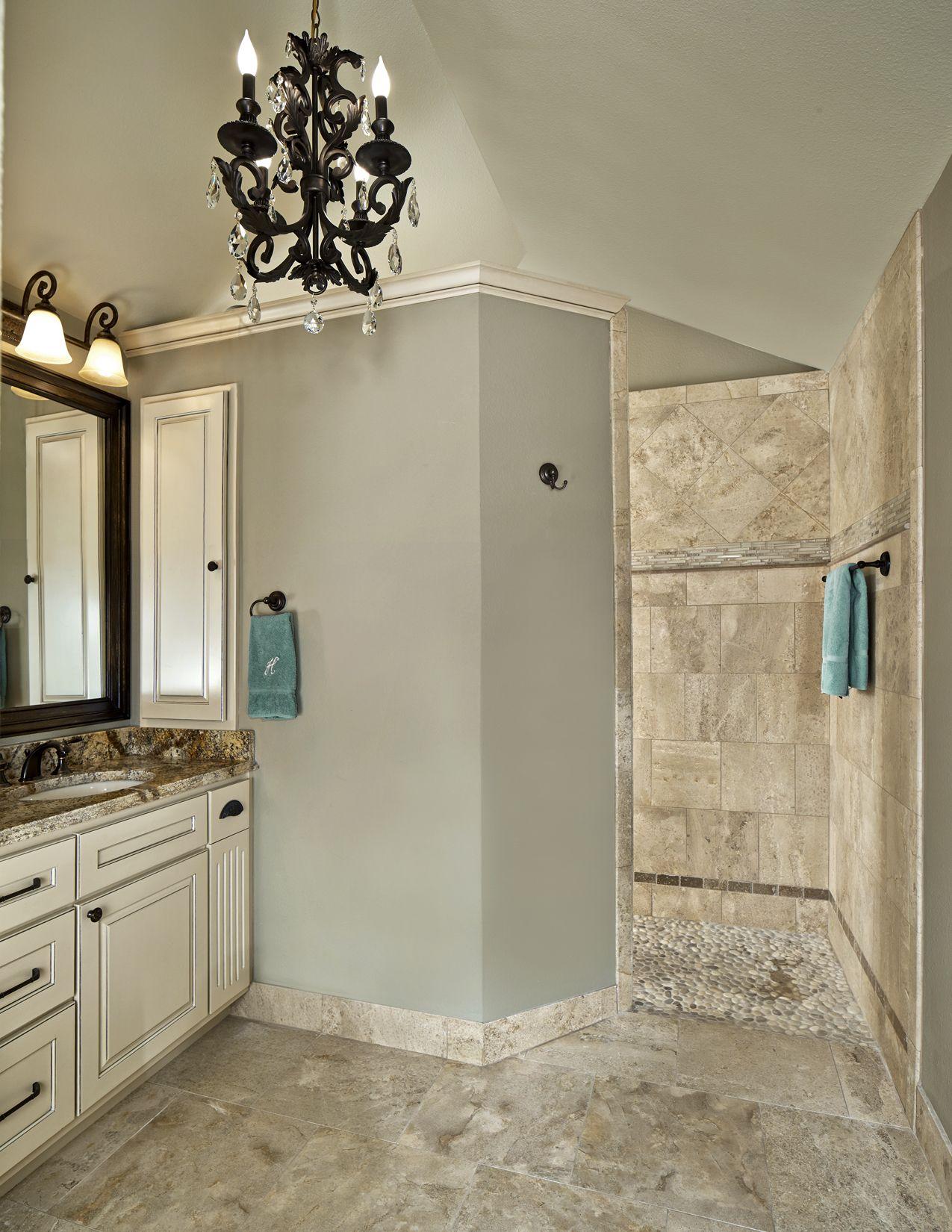 Spa wie badezimmer ideen old shepard master bath walkin shower spaexperience river rock