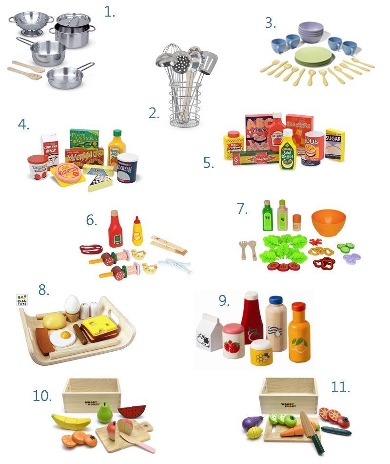 Play Kitchen Food and Accessories Basics Wishlist