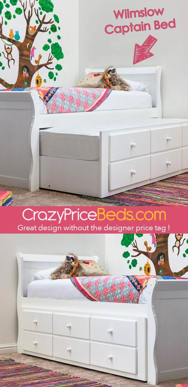 Single size bed with pull out guest trundle and 3 storage drawers perfect for sleepovers and storage only £299 99 with free delivery to uk mainland from