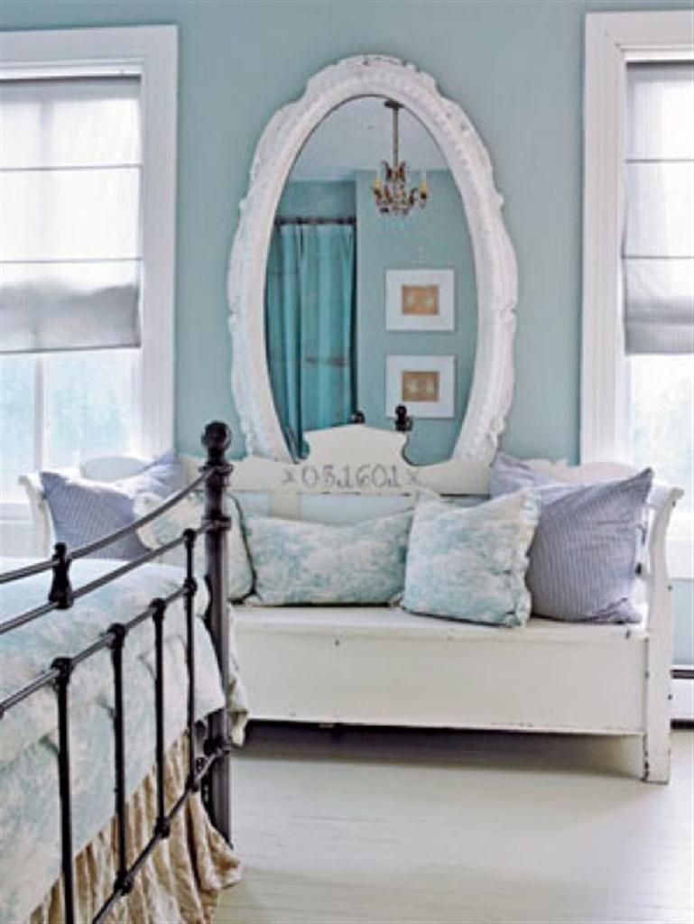 Elegant White Large Oval Mirror Love Seat By Country Living   10 Modern  Creative Furniture Bedroom