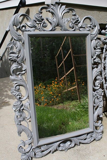 Spray paint those tacky plastic mirrors - so pretty! | Home Decor ...