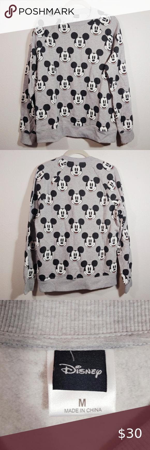 Disney Mickey Mouse Crewneck Sweatshirt M Crew Neck Sweatshirt Disney Mickey Mouse Disney Mickey [ 1740 x 580 Pixel ]