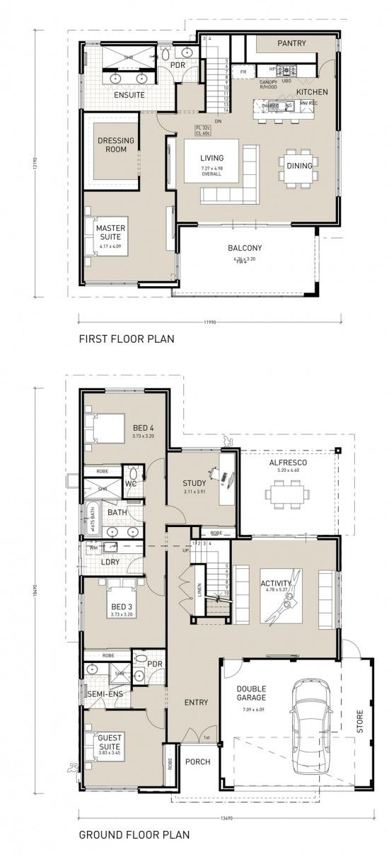 This Stunning Four Bedroom Three Bathroom Home Has Been Designed To Capture The View With The Kitc House Plans Australia Double Storey House Plans House Plans