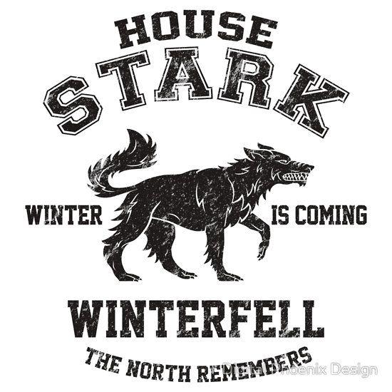 Game Of Thrones Team Stark Black T Shirt By Digital Got Starkphoenix Designhouse