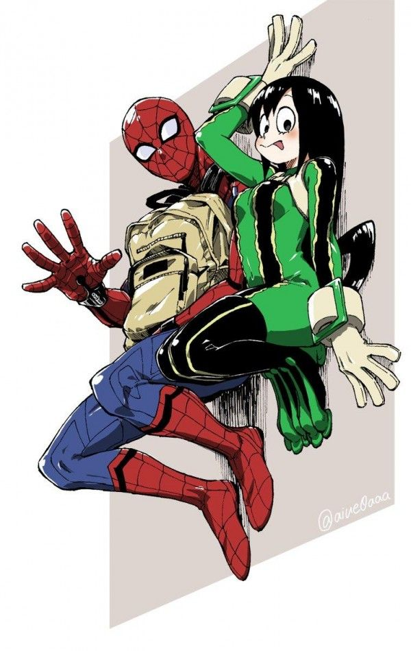 Spider man myheroacademia dessin tsuyuasui comic manga anime boku no hero academia - Dessins animes spiderman ...
