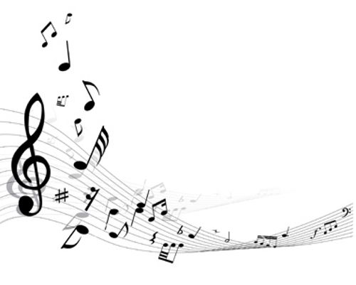 Music vector. Free printable musical notes