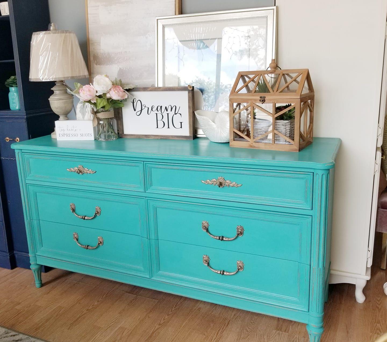 Turquoise Furniture Paint Color Mudpaint Vintage Furniture Paint